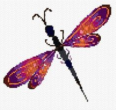free cross stitch dragonfly                                                                                                                                                                                 More