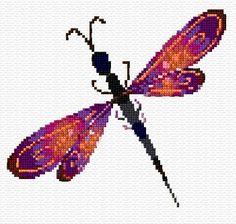 free cross stitch dragonfly