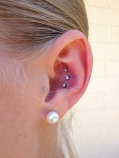 Triple conch piercing :)