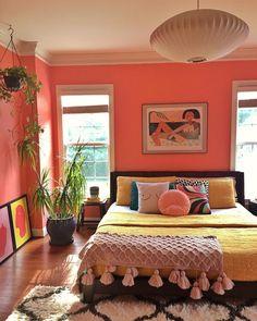 Room Ideas Bedroom, Home Decor Bedroom, Eclectic Bedroom Decor, Mexican Bedroom Decor, Bright Bedroom Ideas, Eclectic Bedding, Indian Room Decor, Indian Bedroom, Bedroom Interiors