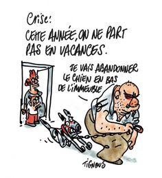 Bernard Verlhac, connu sous le pseudo de «Tignous», qu'il a choisi parce que sa grand-mère le surnommait «petite teigne», fait partie des victimes de l'attaque au siège de la rédaction de Charlie Hebdo le 7 janvier 2015. Nous vous proposons ici quelques-uns de ses dessins, tirés des ouvrages Le...