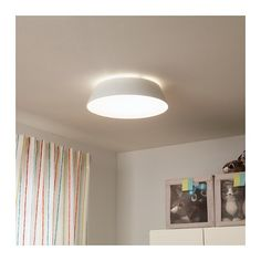 IKEA - FUBBLA, LED ceiling lamp, Gives a good general light. The LED light source consumes up to less energy and lasts 10 times longer than incandescent bulbs. Led Ceiling Lamp, False Ceiling Design, Led Lampe, Affordable Furniture, Inspiration, Home Decor, Fingers, White White, Funky Lighting