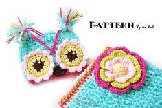 Ravelry: Chunky Flower Owl Hat and Cocoon Set - Crochet PDF Pattern pattern by Ira Rott