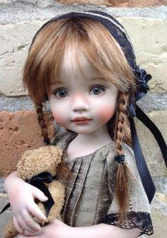 Allison, A 10 Porcelain Doll Made From a Mold By Dianna Effner: