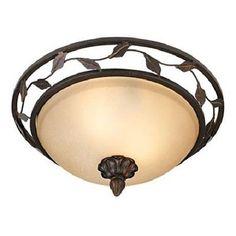 Bronze-Finish-14-Wide-Leaf-and-Vine-Ceiling-Light-Fixture