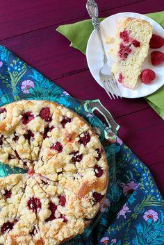 Raspberry Sour Cream Coffee Cake- DELICIOUS !