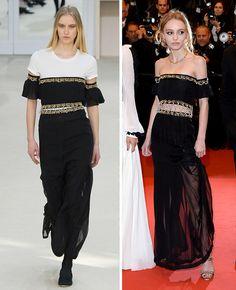 Défilé Chanel automne-hiver 2016-2017 / Lily-Rose Depp sur le tapis rouge du Festival de Cannes 2016