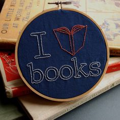 Embroidery Pattern Set Booksmart Patterns for book lovers