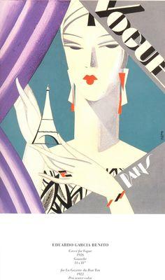 Vintage Vogue cover by Eduardo Garcia Benito, 1926