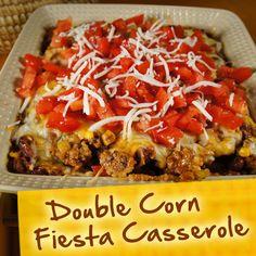 Hispanic Diabetes Recipes: Double Corn Fiesta Casserole