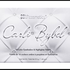 Carli Bybel - Eyeshadow & Highlighter Palette BH COSMETICS ; Carli Bybel - 14 Color Eyeshadow & Highlighter Palette (swatched 2 times on hand) in great condition Bhcosmetics Makeup Eyeshadow
