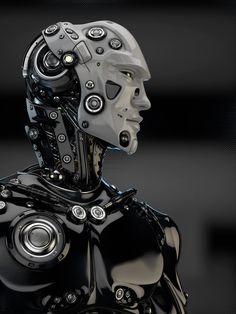 Vladislav Ociacia's cyborg art via Armadura Sci Fi, Android Art, Android Design, Wallpapers Android, Android Hacks, Android Tutorials, Android Watch, Futuristic Robot, Humanoid Robot