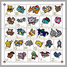 cross stitch pokemon - Google Search