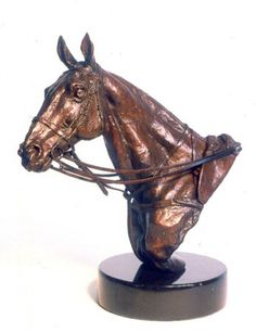 Bronze Horse Sculpture / Equines Race Horses Pack HorseCart Horses Plough Horsess sculpture by artist Lorne Mckean titled: 'Polo Pony Portrait/Trophy (bronze Head sculptures)'
