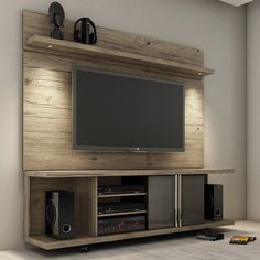 Carnegie TV Stand and Park 1.8 Floating Wall TV Panel - Click to enlarge …