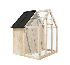 Garden Shed Sprout Back Gardens, Outdoor Gardens, Easy Garden, Home And Garden, Greenhouse Shed, Homestead Gardens, Backyard Sheds, Garden Sheds, Large Planters
