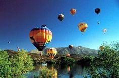 Hot air balloon festival in Temecula, California