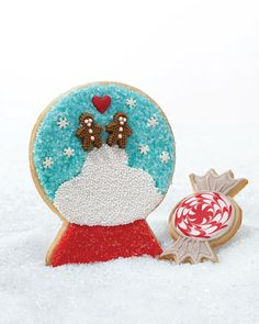 Step by Step Snow Globe cookies