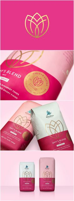 Design Agency: Cue Brand / Project Name: Caribou Coffee Amy's Blend Location: United States America Category: #coffee #drink #beverage http://worldpackagingdesign.com/blog/2018/2/6/brand-pays-tribute-to-original-roastmaster-who-lost-her-battle-with-breast-cancer