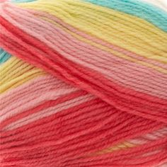 "Lion Brand Yarn Ice Cream Tutti Frutti from @fabricdotcom  Perfect for sweaters and baby blankets, this Lion Brand yarn comes in several delicious shades. Made in Turkey. Please purchase sufficient amounts as dye lots may vary. <BR><BR><LI>Recommended Knit Needle Size:  US 5 (3.75mm) for gauge: 24 sts  x 32 rows= 4"" (10 cm) <LI>Crochet Hook G- 6 (4.25mm) for gauge 18 sc x 22 rows<LI>Meterage/Yardage: 360 m/394 yds<LI>Ball Weight: 100 grams <LI>Fine Weight, Plied Texture<LI>"