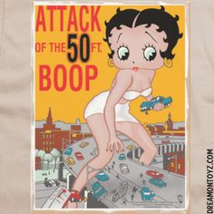 Attack of the 50 FT. BOOP- More Betty Boop Graphics & Greetings: ➡ http://bettybooppicturesarchive.blogspot.com/ Shop for Betty Boop ➡ https://www.facebook.com/shopforbettyboop/