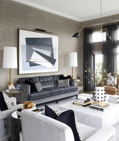 Transitional Glam Living Room Elegant transitional style formal living room décor with holly hunt inspired sofas, classy living Classy Living Room, Beige Living Rooms, Transitional Living Rooms, Cozy Living Rooms, Formal Living Rooms, Home Living Room, Living Room Designs, Living Room Decor, Transitional Style
