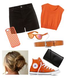 #82 by iris-palma on Polyvore featuring Polaroid PLD 6009 Sunglasses in Orange, available at #SelectSpecs