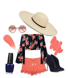 """""""Summer"""" by woowooh on Polyvore featuring Chloé, Dolce&Gabbana, Gianvito Rossi, OPI, Obsessive Compulsive Cosmetics and Burberry"""