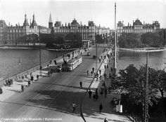 Copenhagen - Dronning Louises Bridge 1930s by Mikael Colville-Andersen, via Flickr