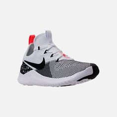 best service 37da9 3b55c Three Quarter view of Women s Nike Free TR 8 Training Shoes in  White Black Total Crimson