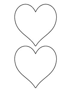 Printable Full Page Large Heart Pattern Use The For Crafts
