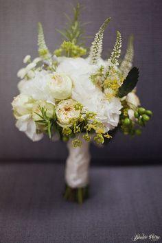 my hydrangea and rosemary bouquet