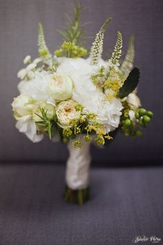 my hydrangea and rosemary bouquet