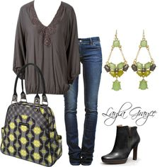 """""""Midnight Mums"""" Petunia Pickle Bottom Fall outfit inspiration! by @laylagrayce on Polyvore. Ella Moss Graphite Blouse 