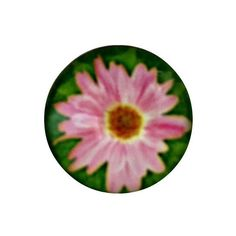 S-2096 Pink Flower-Green Background Snap 18mm for Ginger Snap-Noosa Snap-Chunk Snap Charm Jewelry by SimpleEleganceCole on Etsy