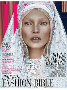 The incredible {good} cover: Kate Moss for W Magazine. Photography by Steven Klein. Styled by Edward Enninful.