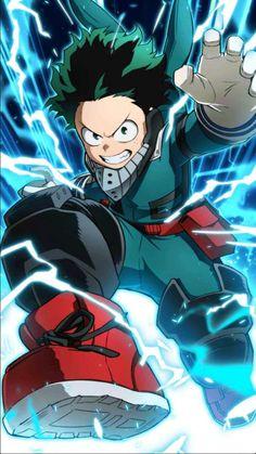 Credit goes to the artist. Izuku Midoriya, Deku, Boku No Hero Academia, BNHA Anime Naruto, Manga Anime, Art Anime, Fanarts Anime, Anime Guys, My Hero Academia Episodes, My Hero Academia Shouto, Hero Academia Characters, Anime Characters
