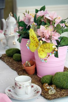 It's Just Paper: centerpieces for fairy party