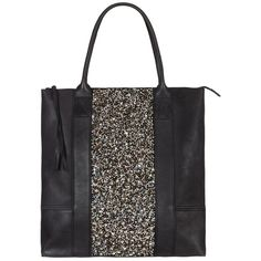 Elissa Tote Bag (2.970 ARS) ❤ liked on Polyvore featuring bags, handbags, tote bags, purses, accessories, сумки, black, purse tote, leather hand bags and leather handbags
