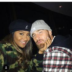 Travis Kelce and Kayla Nicole #couplegoals#couplesfashion#interracial#bwwm