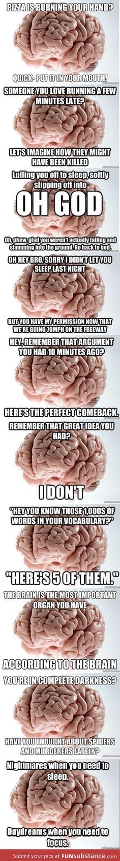 My brain goes through all of these... usually on a daily basis