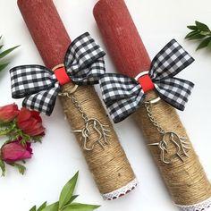 Λαμπάδα κόκκινη αρωματική με φιόγκο κ μπρελόκ μονόκερο | Λαμπάδες & Πασχαλινά  στο jamjar Decorated Candles, Easter Crafts For Kids, Holidays And Events, Dyi, Diy And Crafts, Knitting, Christmas, Handmade, Inspiration