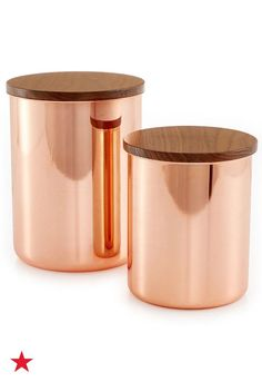 Store flour, sugar, grains and more in these Martha Stewart Collection Heirloom copper-plated canisters. Start organizing your kitchen today—shop macys.com!