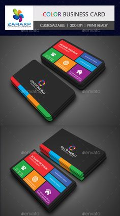 Color Business Card Template #design #print Download: http://graphicriver.net/item/color-business-card/11817761?ref=ksioks