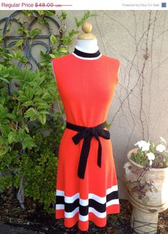 NEW YEAR SALE A vintage 1960s 1970s orange high by Samlovesvintage, $24.00