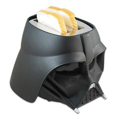 Star Wars™ Darth Vader Toaster. The empire strikes back with deliciously toasted bread, waffles and English muffins courtesy of the Star Wars Darth Vader Toaster. This sleek, all-black exterior toaster imprints the Star Wars logo on every slice.