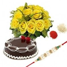 www.suratflorist.com endeavors in providing the best quality gift hampers for the special occasion of Raksha Bandhan. Now surprise your brother/sister lived in Surat by sending or ordering Rakhi special gifts, cakes and flowers that sure express your affection towards your sibling on this Raksha Bandhan. Contact us: +91-8288024441, 8288024442