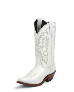 Women's White Calf Boot - Gotta have classic white!