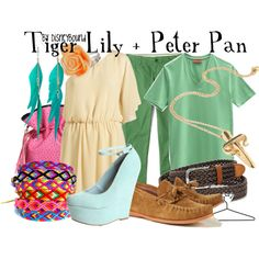 Tiger Lily and Peter Pan couples outfit