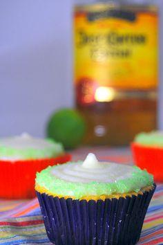 Margarita Cupcakes - cute dessert for a Mexican themed dinner!